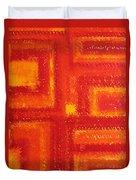 Navajo Rug Original Painting Duvet Cover