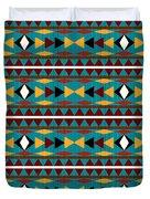 Navajo Teal Pattern Duvet Cover