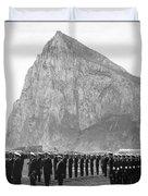 Naval Review At Gibraltar Duvet Cover