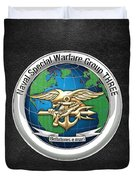 Naval Special Warfare Group Three - Nswg-3 - On Black Duvet Cover