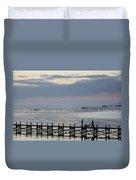 Navarre Beach Sunset Pier 8 Duvet Cover