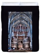 Nave Organ And Paintings Of Saint Cecile Duvet Cover