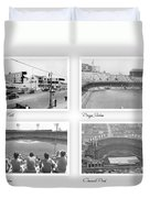 Navin Field Briggs Tiger Stadium Comerica Park Duvet Cover