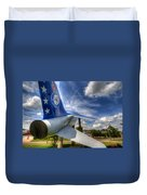 Navy A-7 Fighter Static Display Duvet Cover
