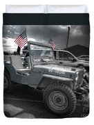 Navy Jeep Duvet Cover