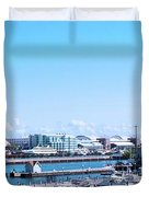 Navy Pier Chicago Il Looking Northeast Duvet Cover