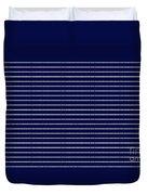 Navy Pinstripe 2 Duvet Cover