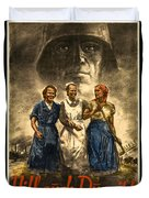 Nazi War Propaganda Poster Duvet Cover