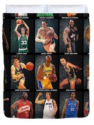 Nba Legends Duvet Cover by Taylan Apukovska