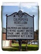 Nc-a21 Culpepers Rebellion Duvet Cover