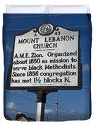 Nc-a43 Mount Lebanon Church Duvet Cover