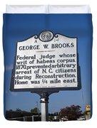 Nc-a54 George W. Brooks Duvet Cover