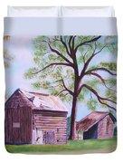 Nc Tobacco Barns Duvet Cover