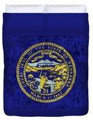 Nebraska Flag Duvet Cover by World Art Prints And Designs