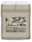 Nebraska Prairie One In Black And White Duvet Cover