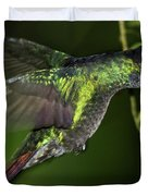 Nectar Feeding Hummingbird Duvet Cover