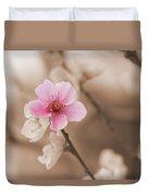 Nectarine Flower Blooming Duvet Cover