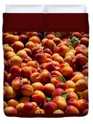 Nectarines For Sale At Weekly Market Duvet Cover