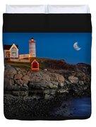 Neddick Lighthouse Duvet Cover by Susan Candelario