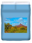Needle-topped Butte From Highway 211 Going Into Needles District Of Canyonlands National Park-utah  Duvet Cover