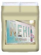 Nehi Ice Cold Beverages Sign Duvet Cover