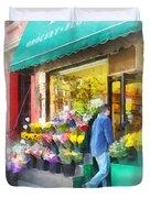 Neighborhood Flower Shop Duvet Cover