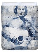 Neil Diamond Portrait Duvet Cover by Aged Pixel