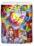 Neil Young-crazy Horse Duvet Cover