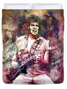 Neil Young Original Painting Print Duvet Cover