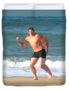 Nels Nilson At The Beach Duvet Cover