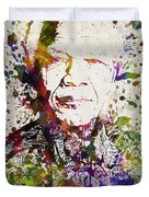 Nelson Mandela In Color Duvet Cover