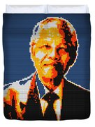 Nelson Mandela Lego Pop Art Duvet Cover
