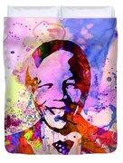 Nelson Mandela Watercolor Duvet Cover