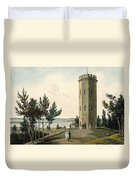 Nelsons Tower, Forres, From A Voyage Duvet Cover