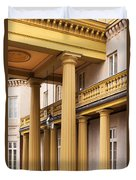 Neo Classical Columns Duvet Cover by Barbara McMahon
