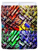 Neo Pop Art Urbanscape New York Sky View Duvet Cover