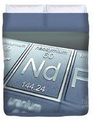 Neodymium Chemical Element Duvet Cover