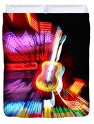 Neon Burst In Downtown Nashville Duvet Cover by Dan Sproul