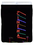 Neon Cinema Duvet Cover