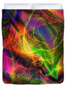 Neon Filigree Duvet Cover