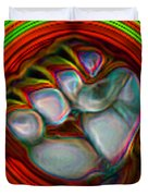 Neon Fist Duvet Cover