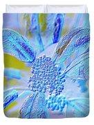 Neon Flora Duvet Cover