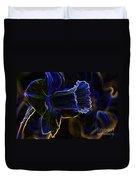 Neon Flowers Duvet Cover