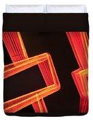 Neon Maze Duvet Cover