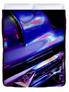 Neon Reflections - Ford V8 Pickup Truck -1044c Duvet Cover
