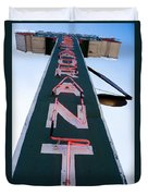 Neon Restaurant Sign Duvet Cover