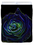 Neon Rose 5 Duvet Cover