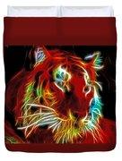 Neon Tiger Duvet Cover