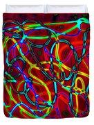 Neon Vegas Jungle Duvet Cover