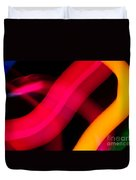 Neon Worms Duvet Cover